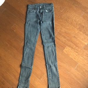Gray carmar skinny jeans